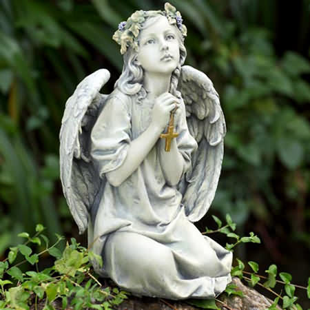 heavenly angel with cross, heavenly angel with cross in prayer