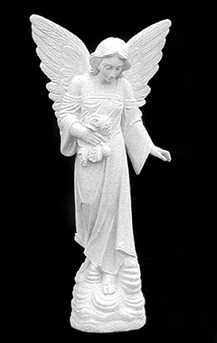 Angel of Sorrows in Granite, Granite Memorial Angel Statues