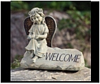 Angel Welcome Stone