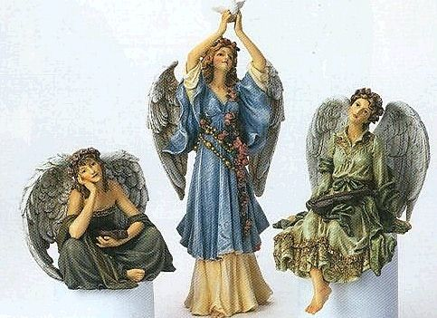 Set of 3 Angel Figurines