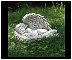 Sleeping Angel Girl in Wings Sculpture