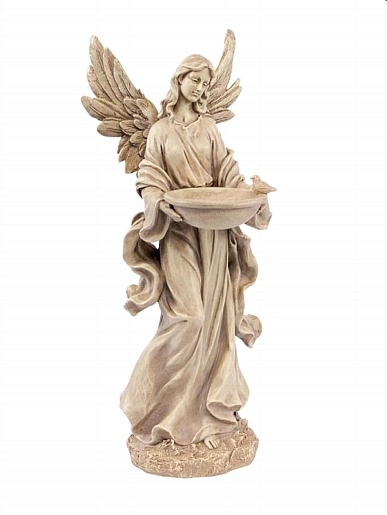 Celestial Angel With Bird Bath