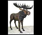 Life Size Standing Moose Statue