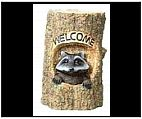 Welcome Raccoon Statue