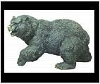 Bronze Roaring Bear Sculpture