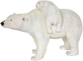 Polar Bear with Baby Statue