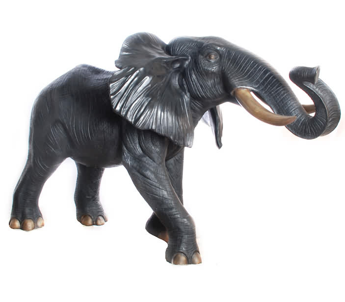 Life Size Bronze Elephant Sculpture