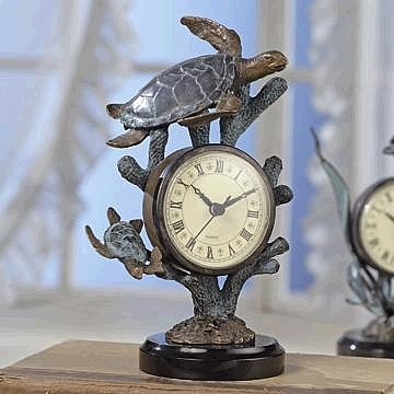 Marine Turtle Desk Clock