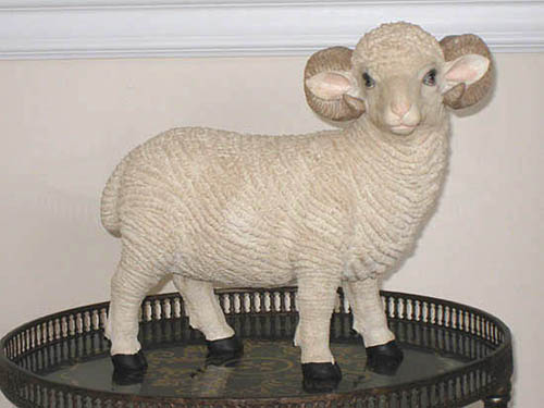 Standing Big Horn Sheep Statue