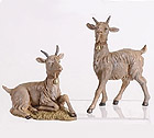 Nanny and Billy Goat Statues Set