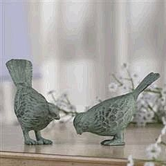 Cast Iron Sparrows Set II - Verdigris