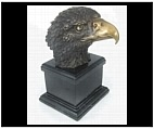 Bronze American Eagle Head on Base