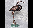 Stately Heron Statue