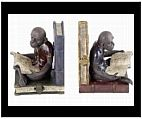 Reading Monkey Bookends