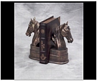 Graceful Horse Head Bookends