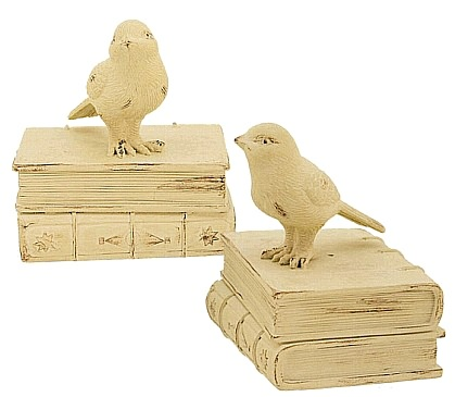 Sparrow Bird Bookends - Country Finish