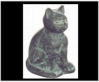 Bronze Kitty Cat Figurine