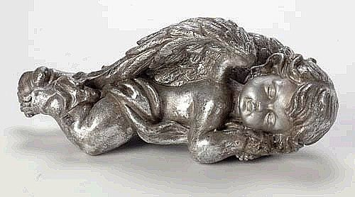 Resin Sleeping Cherub Figurine