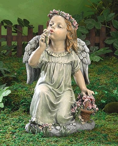 Angel Girl With Flower Basket