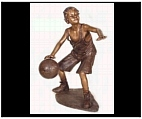 Bronze Basketball Boy