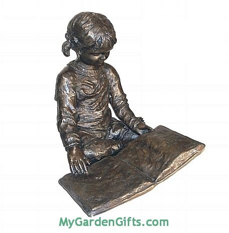 Little Reading Girl Sculpture