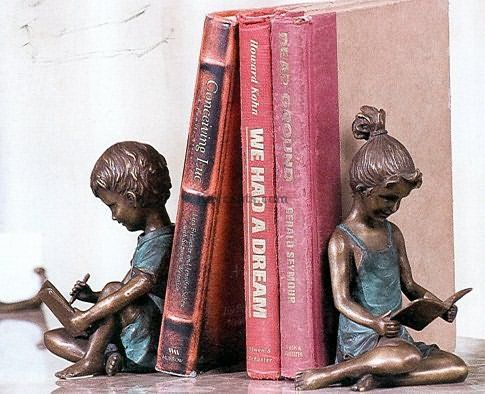 Brass Children Bookends