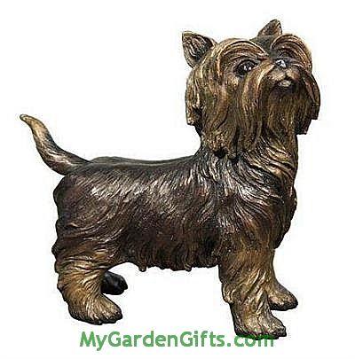 Bronze Yorkshire Terrier Statue