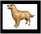 Life Size Golden Retriever - Bronze
