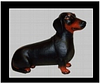 Black Dachshund - Hand Painted