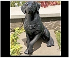 Black Labrador Statue - Hand Painted