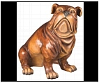 Large Indoor Bulldog Statue