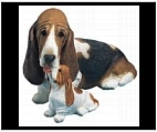 Basset Hound Figurine and Statue
