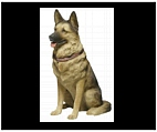 Life Size German Shepherd Statue and Sculpture