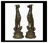 Bronze Dog Statues, Sculptures and Figurines