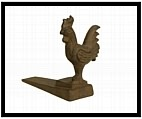Country Rooster Door Wedge