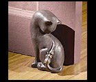 Decorative Cat Door Stop