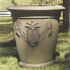 Pineapple Motif Planter, large cast stone garden planters