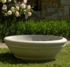 Earth's Simplicity Bowl Concrete Planter, Architectural Planters