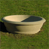 Contemporary Bowl Concrete Planter, Architectural Planters
