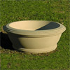 Contemporary Bowl Planter, Concrete Architectural Planters