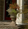Large Tuscan Garden Urn, decorative concrete pots, decorative concrete urns, garden planters
