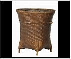 Bronze Basket Weaver Planter