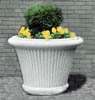 Concrete Planter with Pleats - Medium