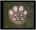 Dog Paw Stepping Stone