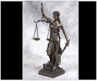 Tabletop Lady Justice Sculpture
