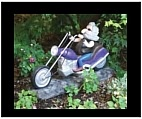 Solar Powered Biker Garden Gnome