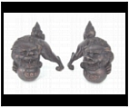 Small Bronze Foo Dogs
