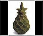 Set of 2 Naturally Aged Pineapple Finials