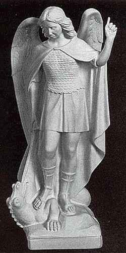Marble Saint Michael The Archangel Statue From Italy
