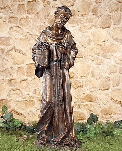 St Francis with Bronze Finish